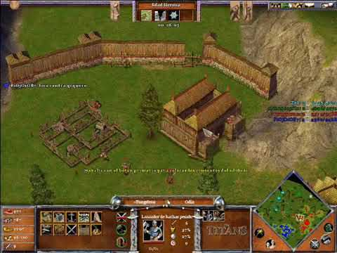 Age of Mythology The Titans x Hamachi: Urano & Thor VS Odin & Hades - Parte 2/4