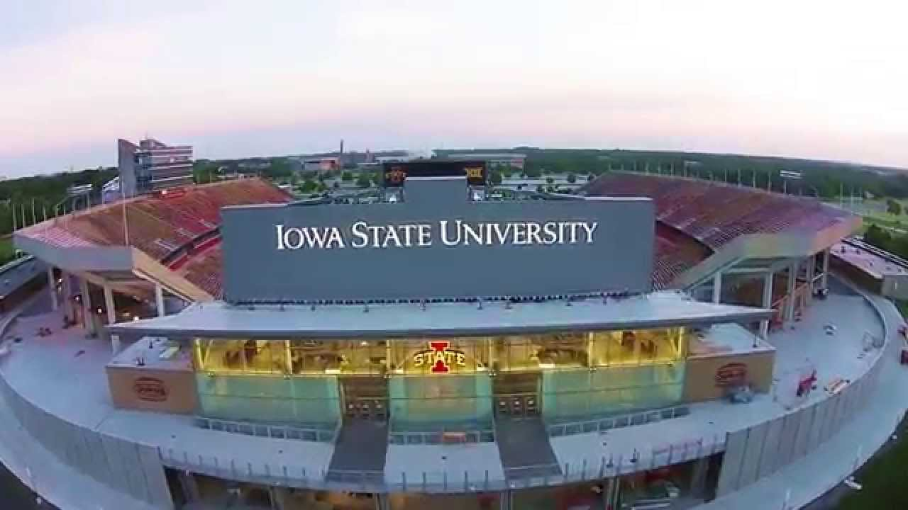 [The newly remodeled Jack Trice Stadium drone flyover] Video