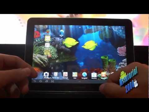 Como poner un acuario de fondo de pantalla en android