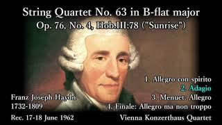 Haydn: String Quartet Op. 76-4, Vienna KonzerthausSQ (1962) ハイドン 弦楽四重奏曲 ウィーン・コンツェルトハウス