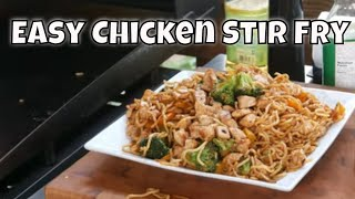Easy Chicken Stir Fry on the Blackstone Griddle