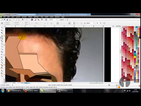 WPAP Tony Stark with CorelDraw X6 Part 1 (HD)