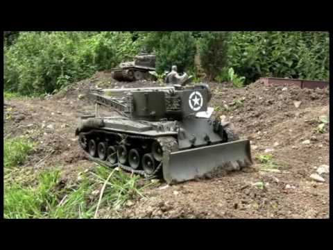 RC - Berge Pershing und Berge Sherman in 1/16 Part 5