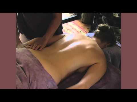 How to Back Massage Therapy. Lymphatic Techniques For Women Body