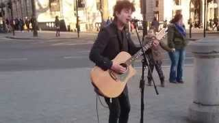 The Beatles, Here Comes the Sun - busking in the streets of London, UK