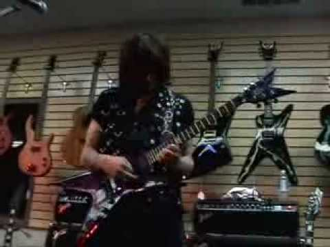 Michael Angelo Batio plays my 1 of a kind Purple Marble Dean Razorback (BURN)