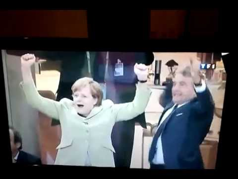 Angela Merkel reaction - Germany - Euro 2012