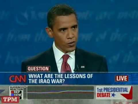 John McCain and Barack Obama at the First Presidential Debate