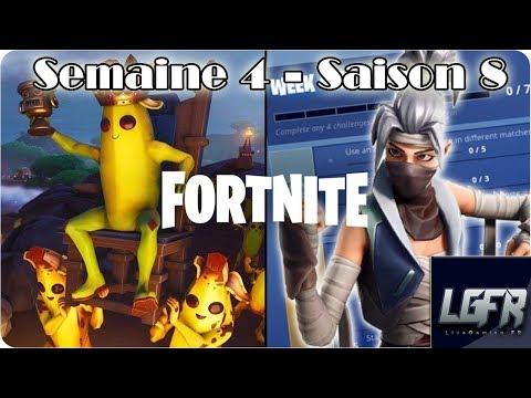 SEMAINE 4 - SAISON 8 FORTNITE - Défis (fuité)