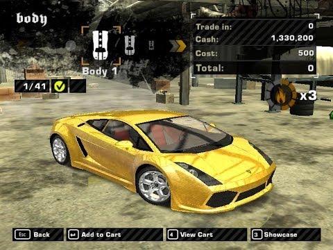 [NFSMW]Lamborghini Gallardo Golden [MOD]