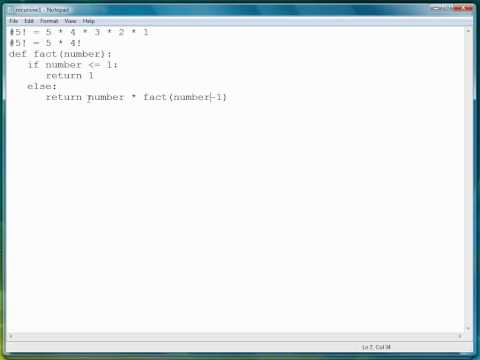 Python Programming Tutorial | Recursive Functions Part 1/2