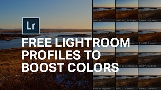 Lightroom PROFILES to Make Colors Pop! [2 FREE Profiles] ????
