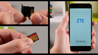 ZTE Blade V6 / ZTE Blade D6 - How To Insert / Remove a SIM Card and MicroSD Card