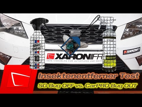 Insekten entfernen - Shiny Garage Bug Off vs. CarPRO Bug Out - Insektenentferner Test
