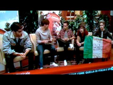 One direction Sky TG 24 1 novembre 2012