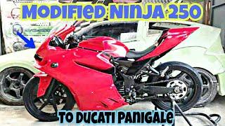 Modified Kawasaki Ninja 250 Into Ducati Panigale 848 By DJ Customs