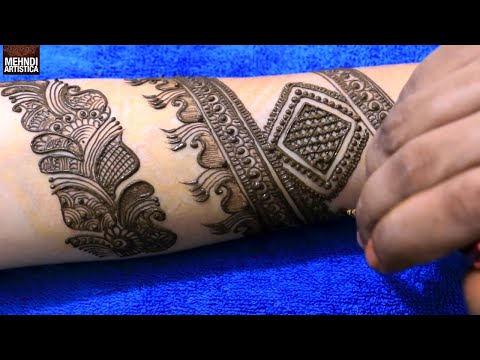 Arabic Border With Floral Mehendi Designs | Best Mehndi Design Tattoo For Brides | MehndiArtistica