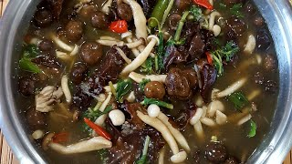 Quarantine Food Ep.6 | How To: Simple Lao Mix Mushroom Soup | Geang Hed