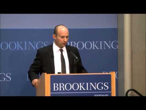 Minister Naftali Bennett at Brookings Institute-part 1/ השר בנט במכון ברוקינס-חלק 2