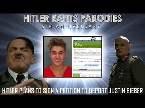 Hitler plans to sign a petition to deport Justin Bieber