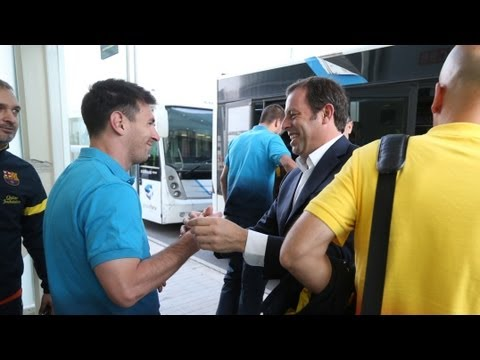 FC Barcelona - Arribada del Bara a Madrid