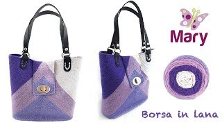Borsa in lana all'uncinetto