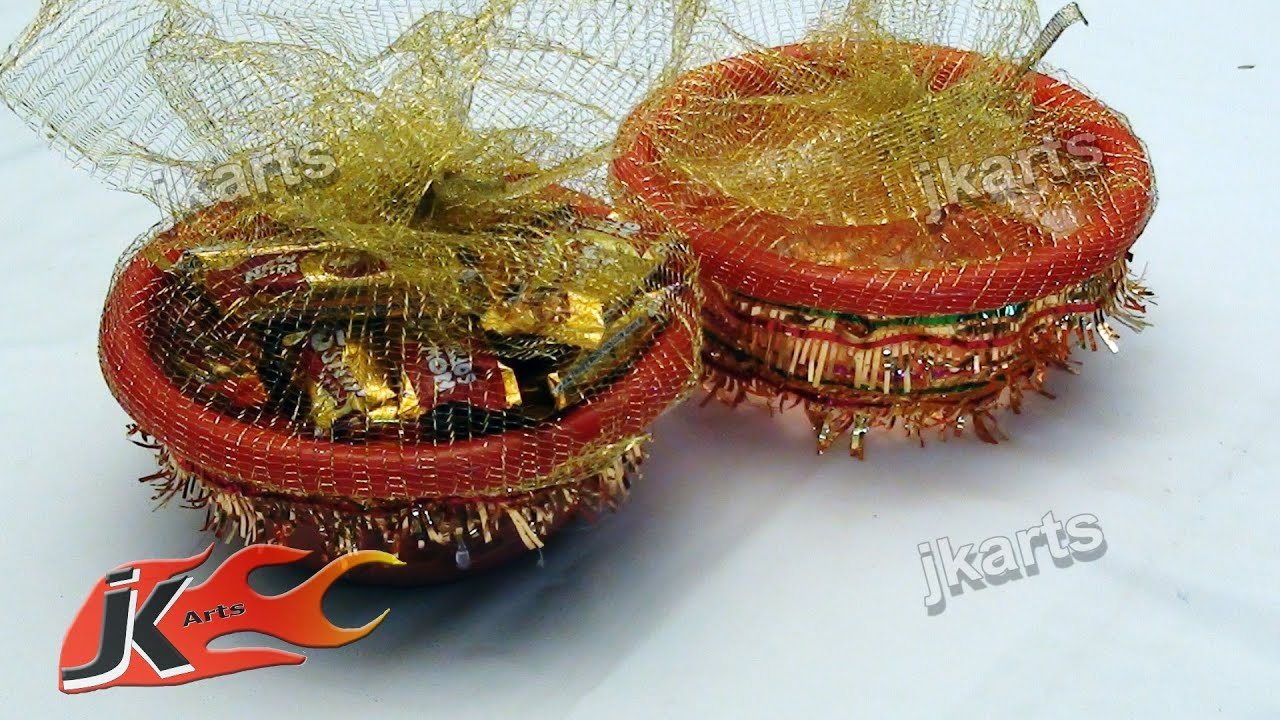Diy How To Make Decorative Gift Baskets Jk Arts 085 Youtube
