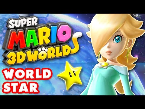 Super Mario 3D World - World Star 100% (Nintendo Wii U Gameplay Walkthrough)