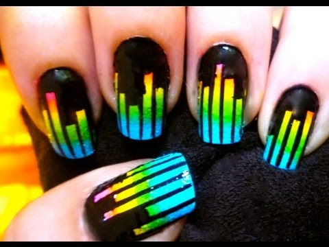 Music Equalizer Nails - Nail art