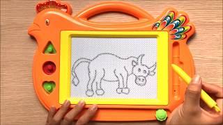 Đồ chơi trẻ em BẢNG THẦN KÌ VIẾT CHỮ VẼ HÌNH GIÚP BÉ HỌC Magic Board Toys for Kids (Chim Xinh)