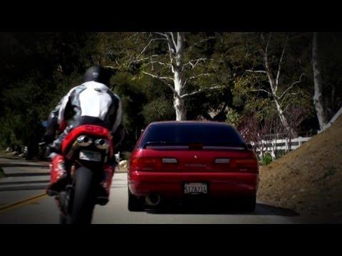 Ducati Super Bikes Vs 240SX Drift Car Canyon Race