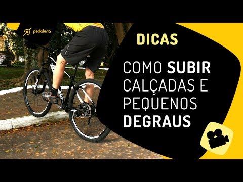 Como subir calçada de bike e também pequenos degraus Pedaleria