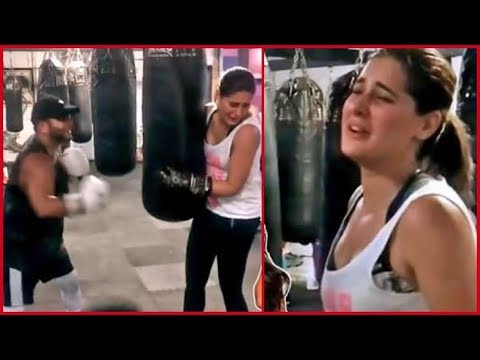 Nargis Fakhri boxing practice in US for upcoming movie | have a look