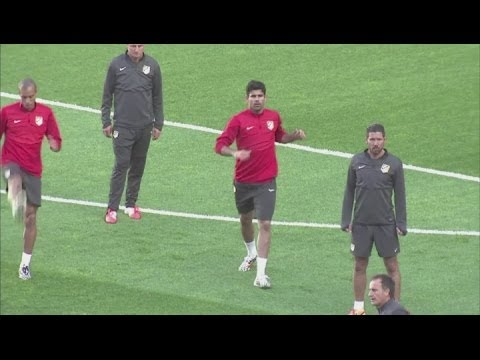 Costa and Turan train ahead of Champions League final