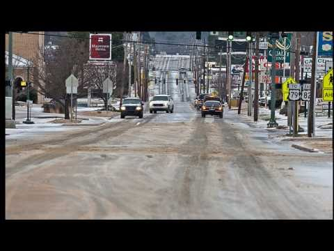 snow driving Arkansas winter weather Dec 2013 The Tom Collins song