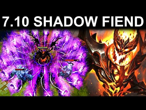 NEW SHADOW FIEND UPDATE PATCH 7.10 DOTA 2 NEW META GAMEPLAY #37 (NEW UPDATE PATCH 7.10)