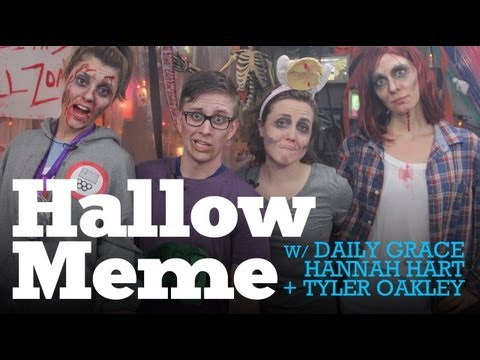 SPOOKTACULAR w/ Hannah Hart, Tyler Oakley, Bethinshow & DailyGrace LIVE - 10/24/12 (Full Ep)
