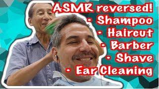 ASMR Japanese Barber BAIKADOU: Camera POV (Binaural Video! 55 Years Experience!)