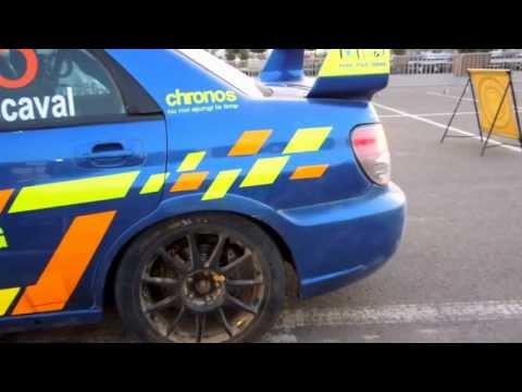 Rally Cars Idling - Transylvania Rally 2013
