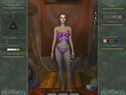 Age of Conan AoC Beta - Female Character Creation 1