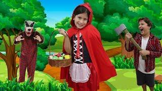 CHAPEUZINHO VERMELHO E O LOBO MAU !!! COM MARIA CLARA E JP   little red riding hood story