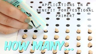 How many pea sized applications in Benefit Porefessional Primers? | THE MAKEUP BREAKUP