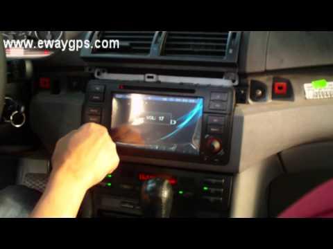 Install custom car dvd for BMW E46 from ewaygps