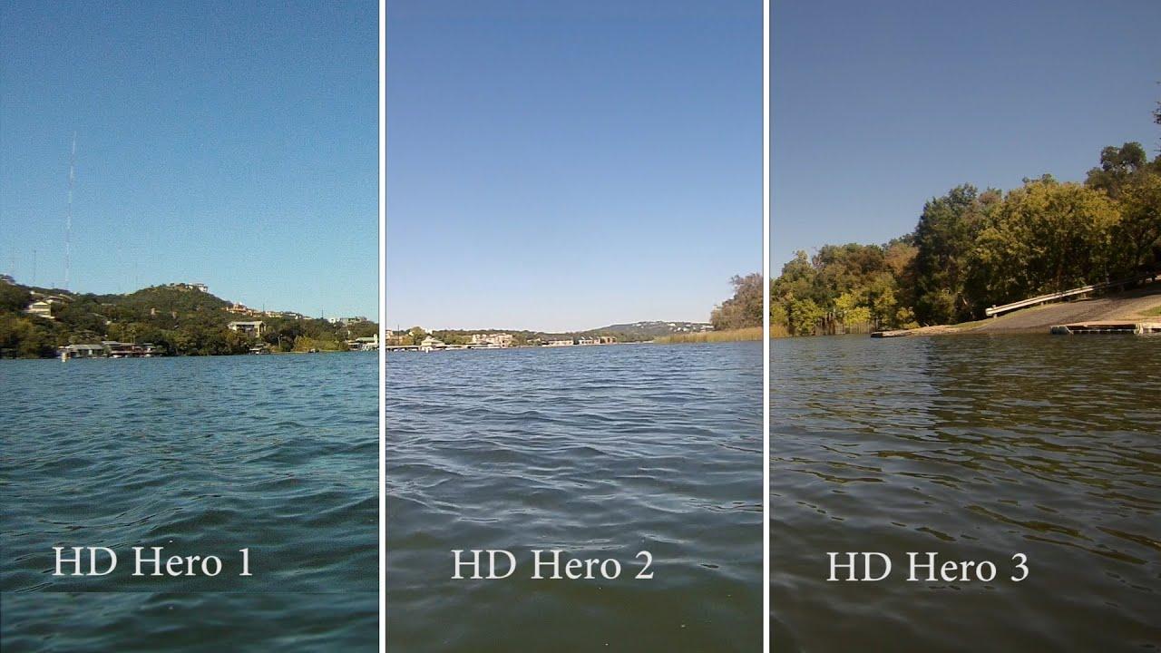 GoPro HD Hero 3 Black Edition Side By Side To HD Hero 1