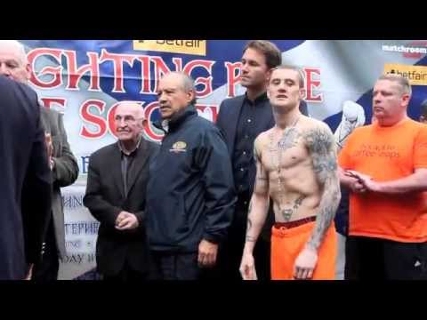 RICKY BURNS v JOSE GONZALEZ - OFFICIAL WEIGH IN / iFILM LONDON / FIGHTING PRIDE OF SCOTLAND