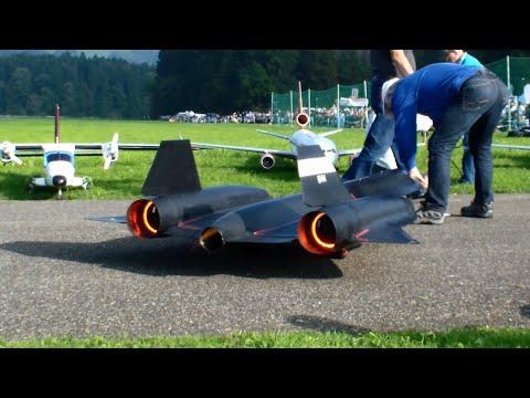 The New R/C Lockheed SR-71 Blackbird By Roger Knobel With After-Burn Hausen Flight Day 2014