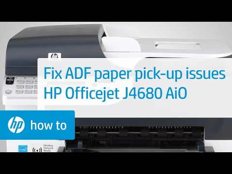 Fixing adf paper pick up issues hp officejet j4680 all for Hp all in one printer with document feeder