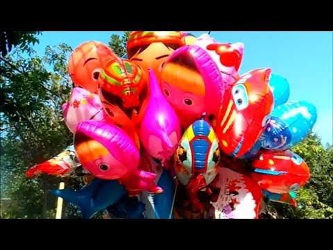 CarГter de balГes de brinquedos  Masha, Boboiboy, UpinIpin, Doraemon, Spongebob, Pokemon