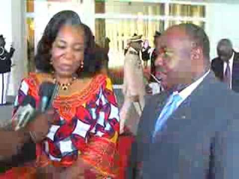 Visite au Gabon de Catherine Samba Panza, Présidente de Centrafrique par intérim