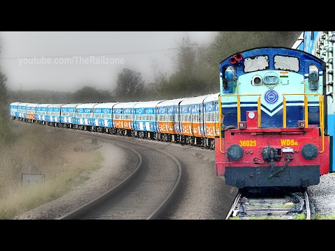 Train Journey | Musical ALCo Chugging | Indian Railways | Diesel Engine thumbnail